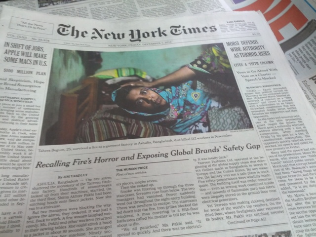 New York Times, Dec 7 2012