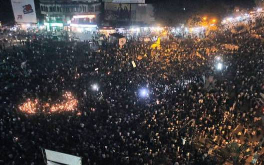Shahbagh Square, Day 2. Image: BdNews24.com