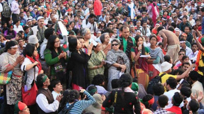 Adivasis at Shahbagh, © Abul Kalam Azad