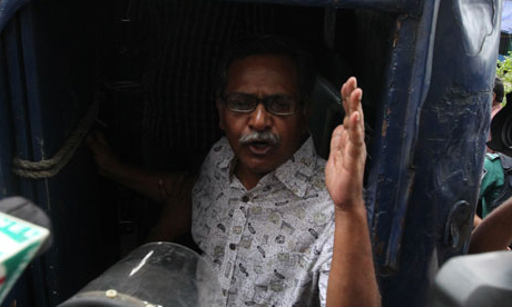 Prof. Anu Muhammad arrested during left hartal. © Priyo