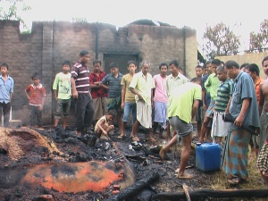 Burned down house of an indigenous family at Matiranga. Source: bdnews24