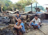 A scene of devastation at Taindong - homeless in their homeland