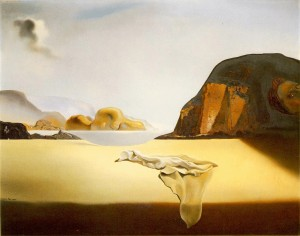 """""""The airless atmosphere has asphyxiated the referent.""""-Jean Baudrillard. The image shows """"The Transparent Simulacrum of the Feigned Image"""" by Salvador Dalí."""