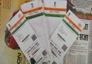 Aadhar cards ( Photo source : Kractivist )