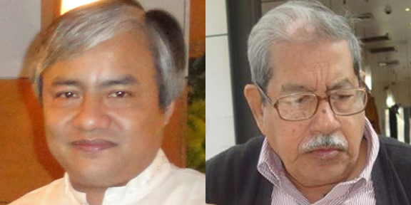 (l) Prashanta Tripura; (r) Prof Anisuzzaman