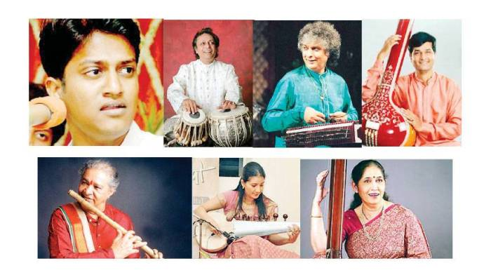 Artists featured at the Bengal-ITC SRA Music Festival. © Dhaka Tribune.