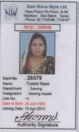 Tulshi Rani, missing at Rana Plaza.