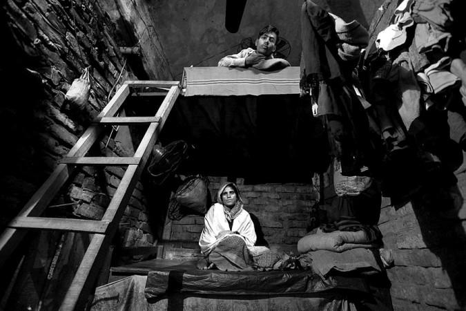 Biharis living in camps in Bangladesh.