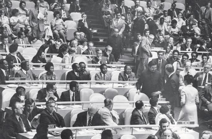 Bangladesh-delegation-taking-their-seats-at-the-General-Assembly-web
