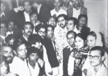 With Awami League members after the 1970 elections