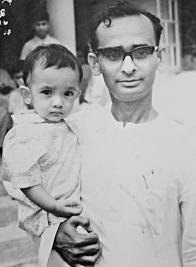 Mufazzal Haider Chaudhury with son.