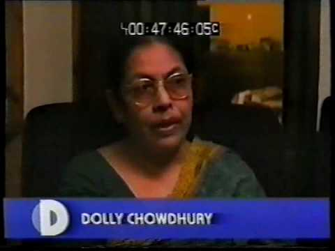 Dolly Chowdhury being interviewed in 'The War Crimes Files.'