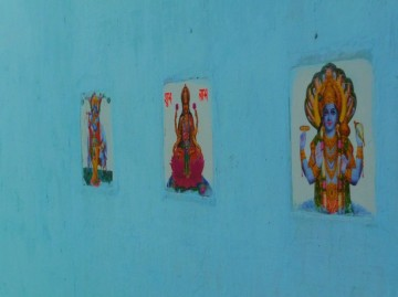 Wall tiles featuring Hindu deities in India (photo: Janny McKinnon/Flickr)
