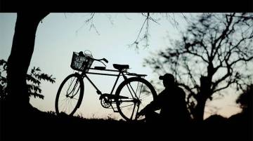 "A still from ""My Bicycle"", the first Chakma language movie ever made."