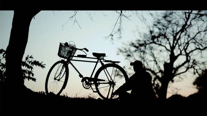 """A still from """"My Bicycle"""", the first Chakma language movie ever made."""
